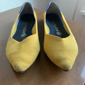 Yellow Pointed Toe Rothy's